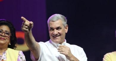 Gonzalo Castillo celebra resultados de las primarias del PLD que lo dan como ganador