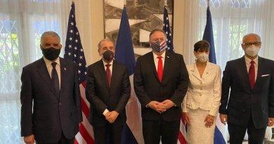 Expresidente Danilo Medina se reúne con el secretario de Estado de EEUU Mike Pompeo
