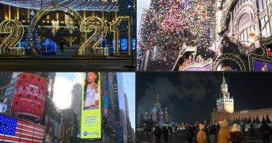 Moscú y Nueva York alistan festejos de año nuevo marcados por la pandemia