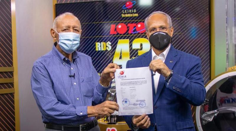 Ganador de 43 millones de Loto se presenta a Leidsa