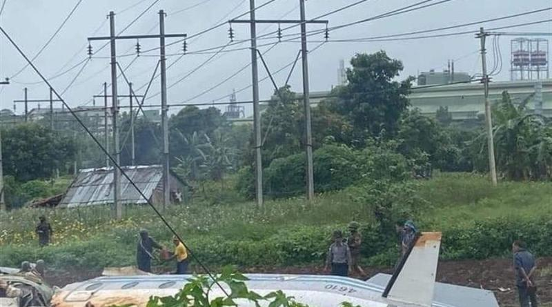 Al menos 12 muertos por el accidente de un avión del Ejército birmano