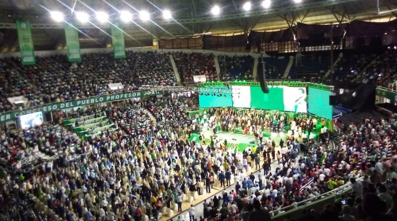 Con una gran asistencia de militantes se realiza clausura del Congreso del Pueblo