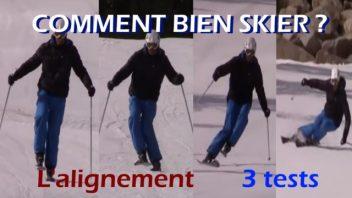 Comment bien skier -3 tests les plus utiles au monde - l'alignement