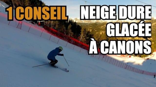 [VIDÉO] 1 CONSEIL pour le ski neige DURE, GLACÉE ou à CANONS : les flexions