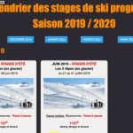 Calendrier des stages de ski progression 2019/2020 – Mise en ligne