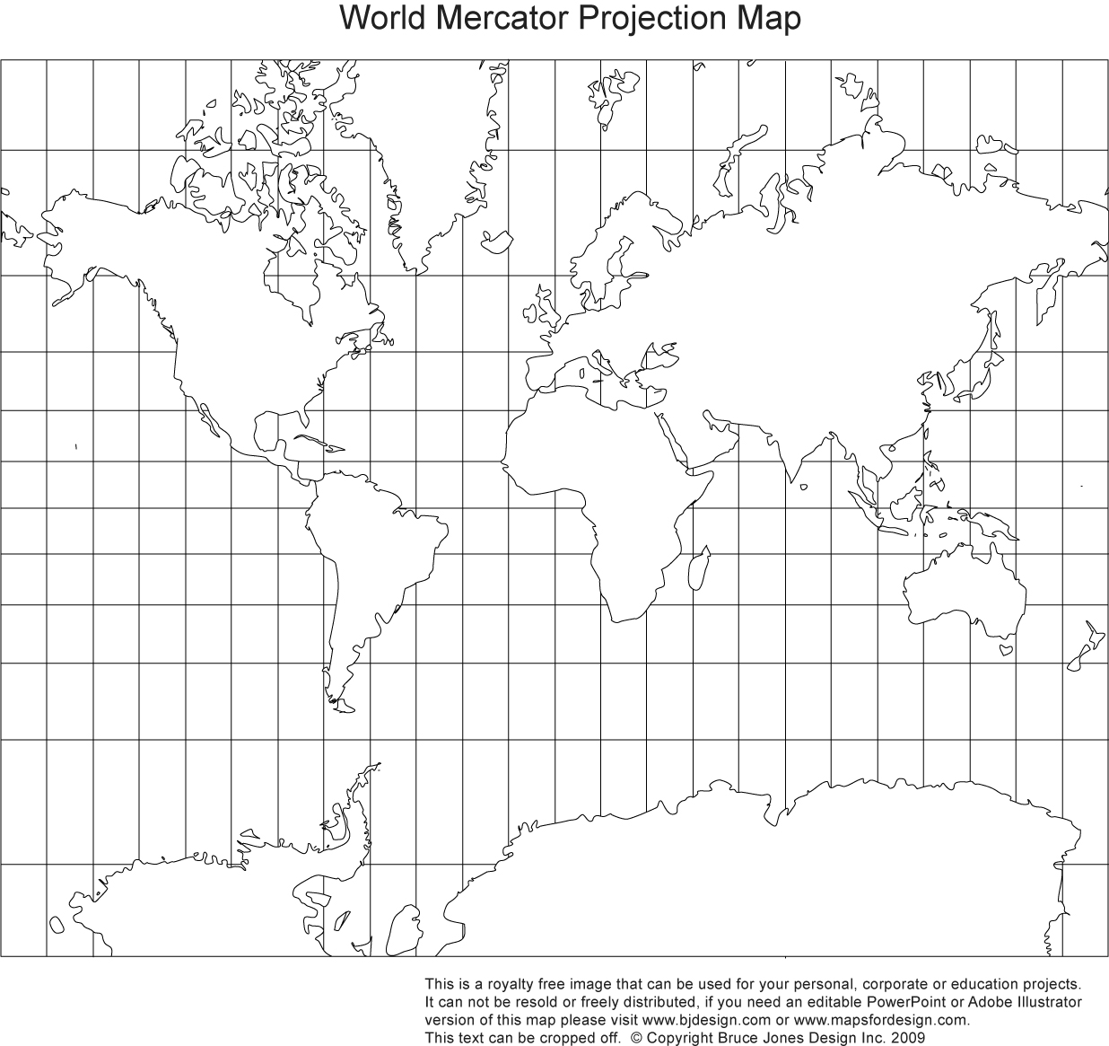 Blank Map Of The World Continents And Oceans
