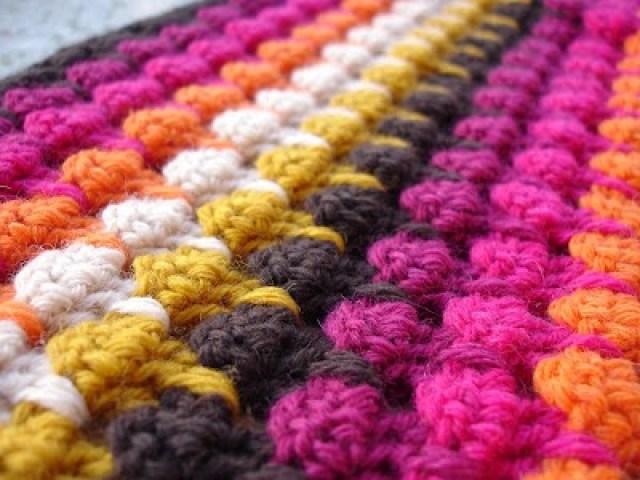 2173.-Técnica Crochet: punto Larksfoot - LABORES EN RED