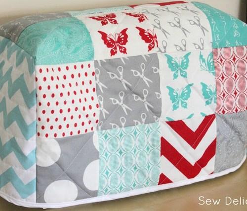 Funda maquina coser patchwork