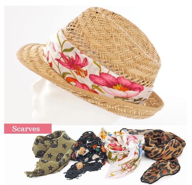 sombrero customizado con pañuelos