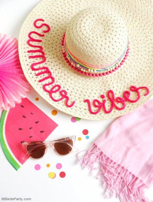 Sombrero bordado con limpiapipas