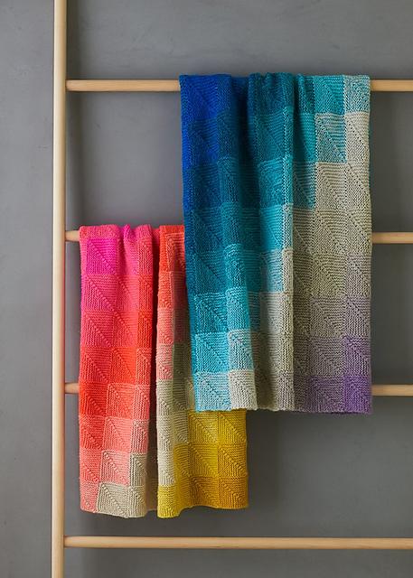 Mitered Corner Blanket by Purl Soho