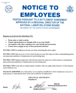 NLRB Free Speech Notice LAS