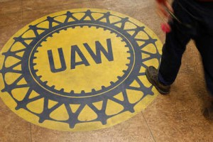 A man arrives at a UAW Hall before listening to Democratic presidential candidate, former Maryland Gov. Martin O'Malley and others seeking political office address members of the Ankeny Area Democrats in Des Moines, Iowa, Thursday, Jan. 14, 2016. (AP Photo/Patrick Semansky)