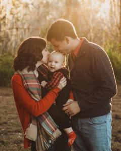 Daniel, Laura, and Cayden Rogers, Winter 2020