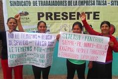 Peruvian worker demonstration