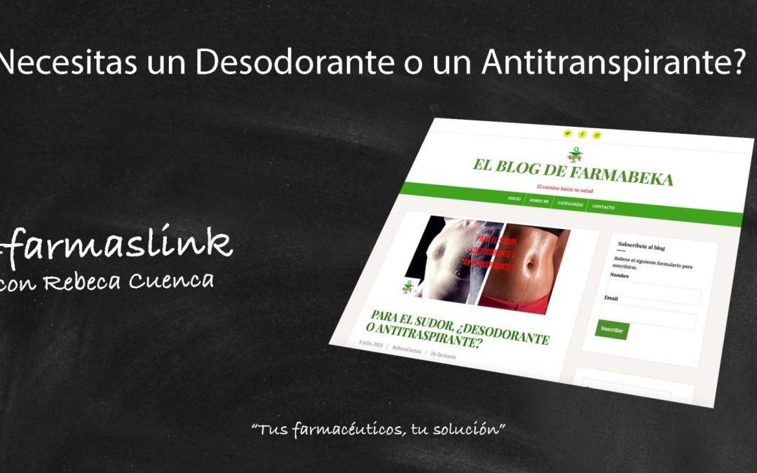 Diferencias entre desodorantes y antitranspirantes