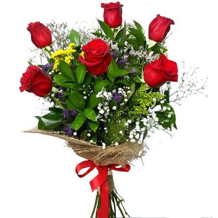 Ramo 6 Rosas Rojas Freedom