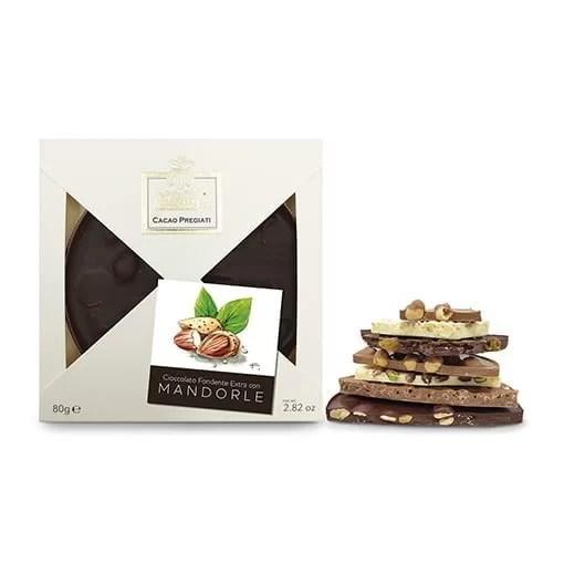 Tortina Cioccolato Fondente Extra con Mandorle Slitti