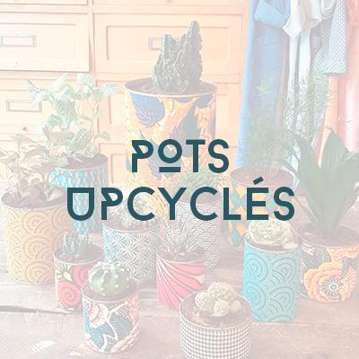 Boutique - pots upcyclés