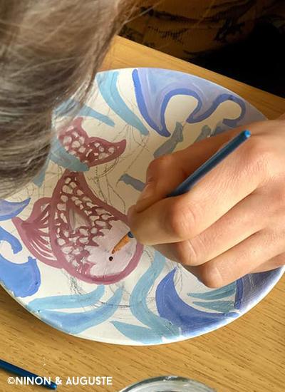 Gouter - décor sur céramique4