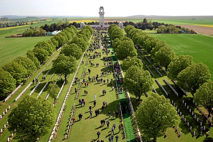 The Australian War Memorial at Villers Bretonneux. Photographer unknown.