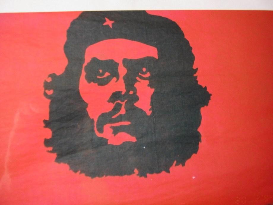 (image on cloth flag - Third World Bookshop, Sydney 1968)