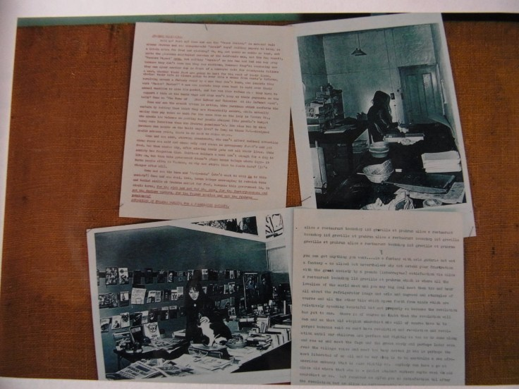 (photo left - in Alice's Restaurant Bookshop; photo right - in The Bakery workroom)