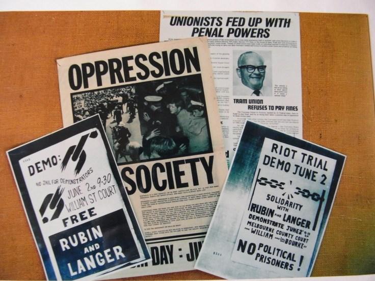 Langer-Rubin riot trial leaflets, June 1969 1969 Sydney broadsheet ('Oppression in Society') Anti-Penal Powers leaflet 1969