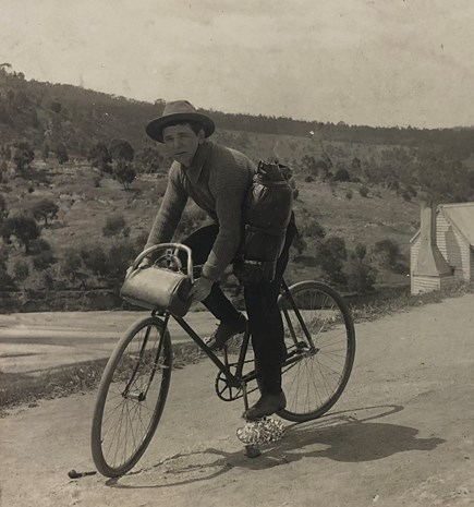 A young Frank Anstey (c 1912). National Library of Australia, Frank Anstey, Papers, 1880-1920, MS 512.