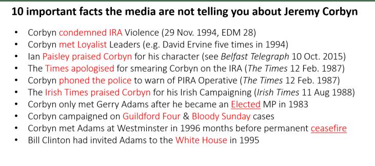 corbyn 10 more IRA debunks