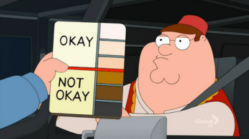 family guy colour chart
