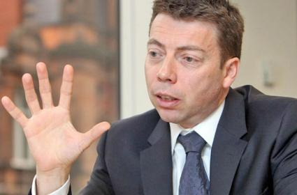 All smiles: Labour's General Secretary Iain McNicol, who used party funds to ensure party members could not vote in the leadership election – unless they paid more money into party funds.