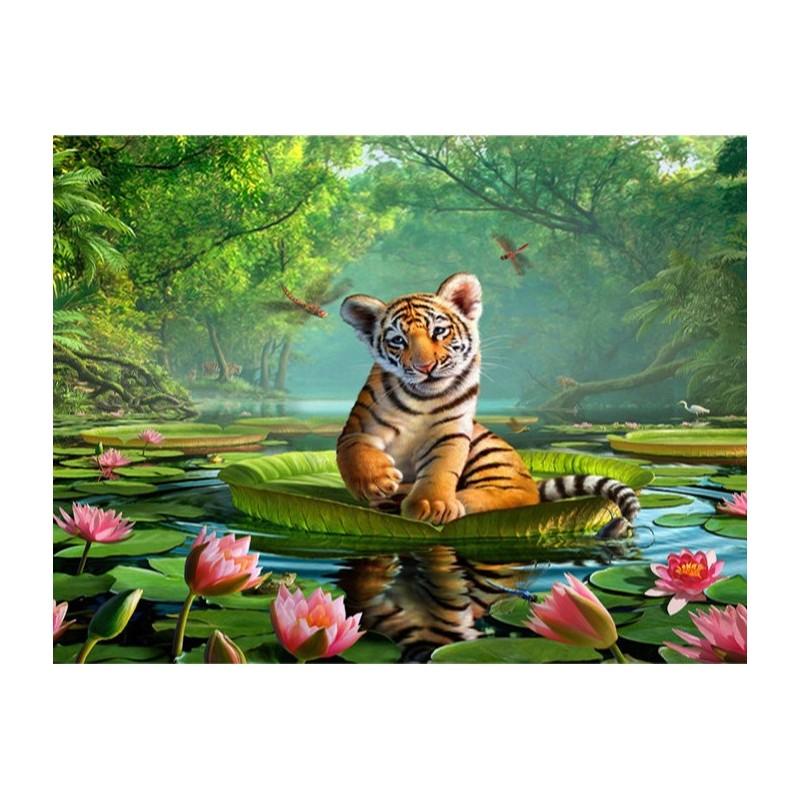 dcoration murale chambre denfant sticker xxl animaux papier peint photo bb tigre avec les