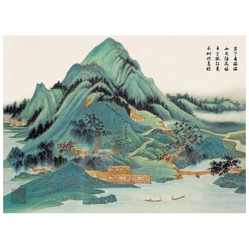 Peinture Asiatique Ancienne Papier Peint Japonais Paysage