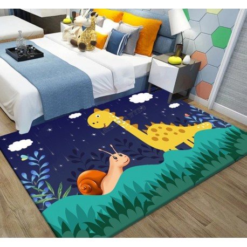 tapis personnalise dinosaure escargot chambre bebe enfant atelier wybo