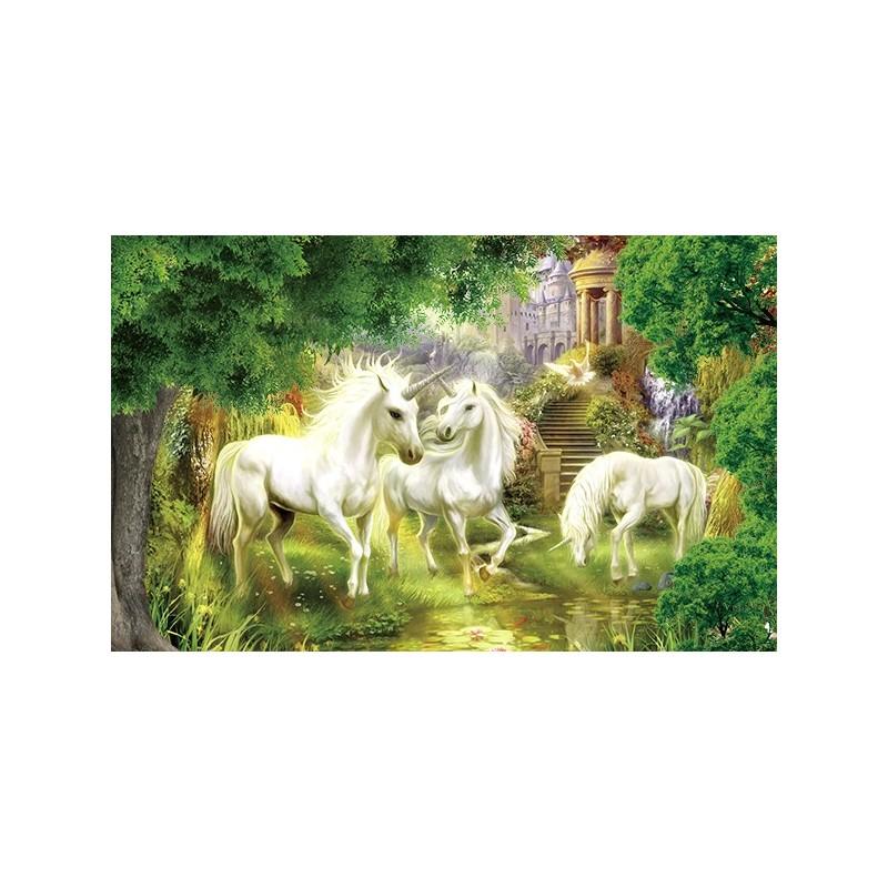 papier peint fantaisie sur mesure les licornes dans le