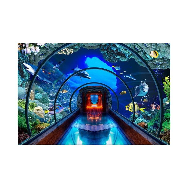 extension despace papier peint photo trompe lil 3D personnalis poster fond marin aquarium gant