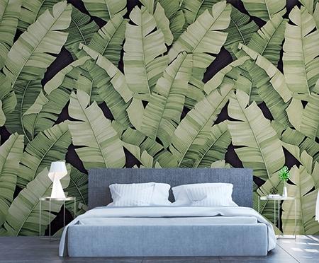 Panneau Mural Feuillage Plante Tropicale Tapisserie Fond
