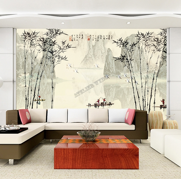 chinese wallpaper bamboo papier peint chinois personnalisable tapisserie numrique bambou