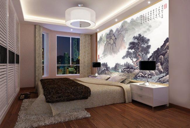 Tapisserie Numrique Sur Mesure Style Chinois Paysage Avec