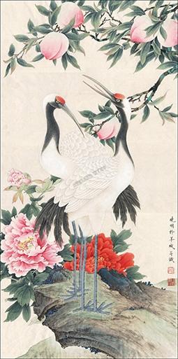 Peinture Lencre De Chine Papier Peint Asiatique