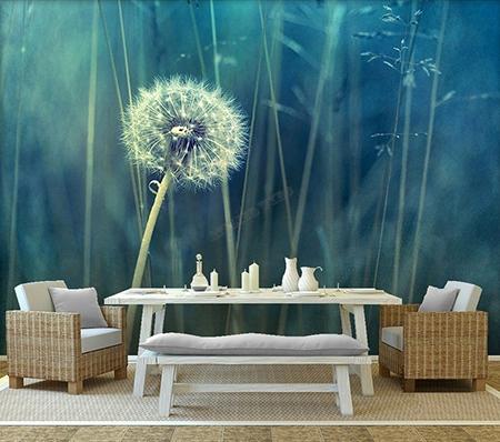tapisserie murale XXL papier peint panoramique paysage nature le pissenlit  Papier peint Sol 3D