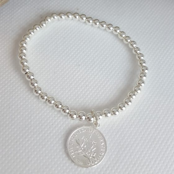bracelets femme perles argent