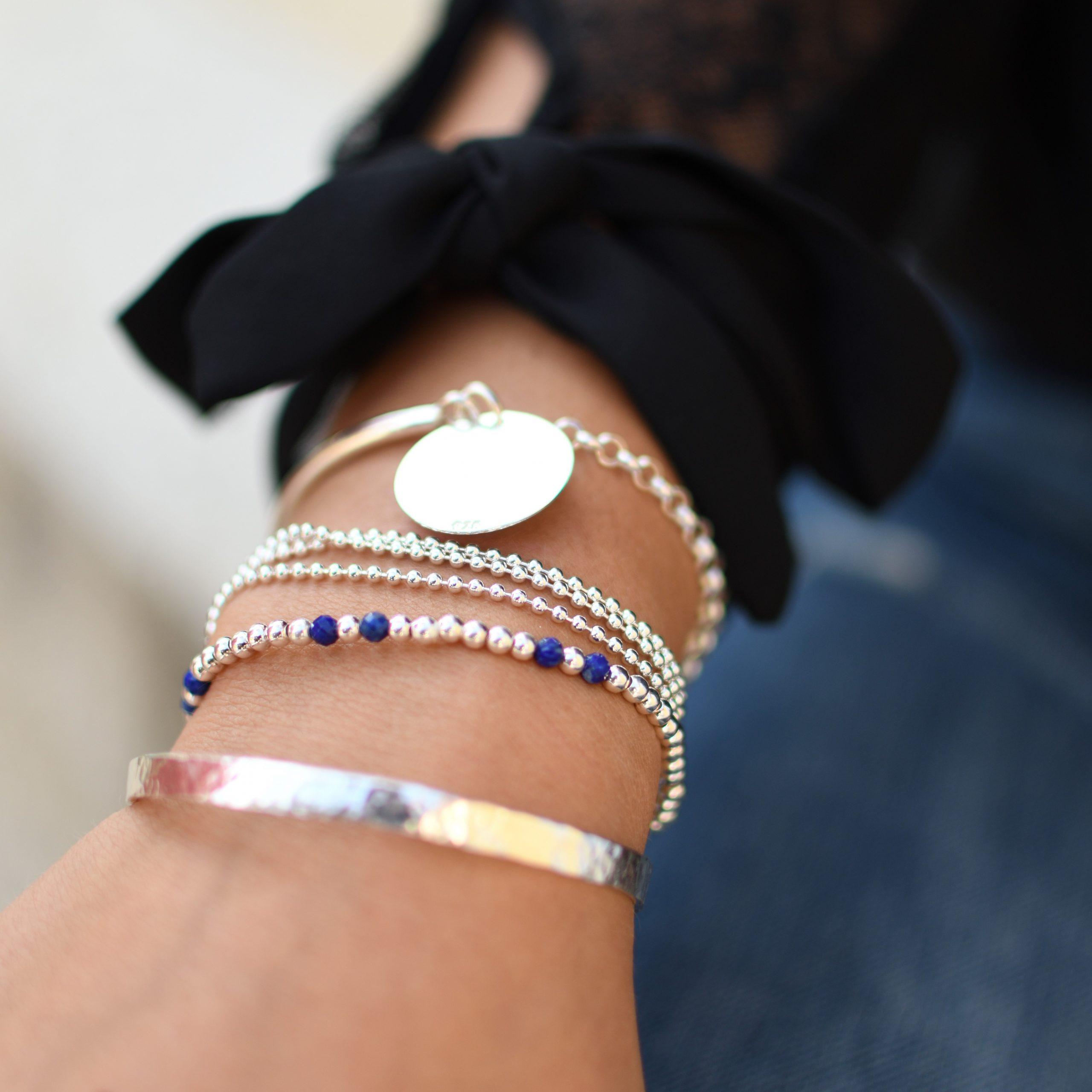 bracelet argent ado fille
