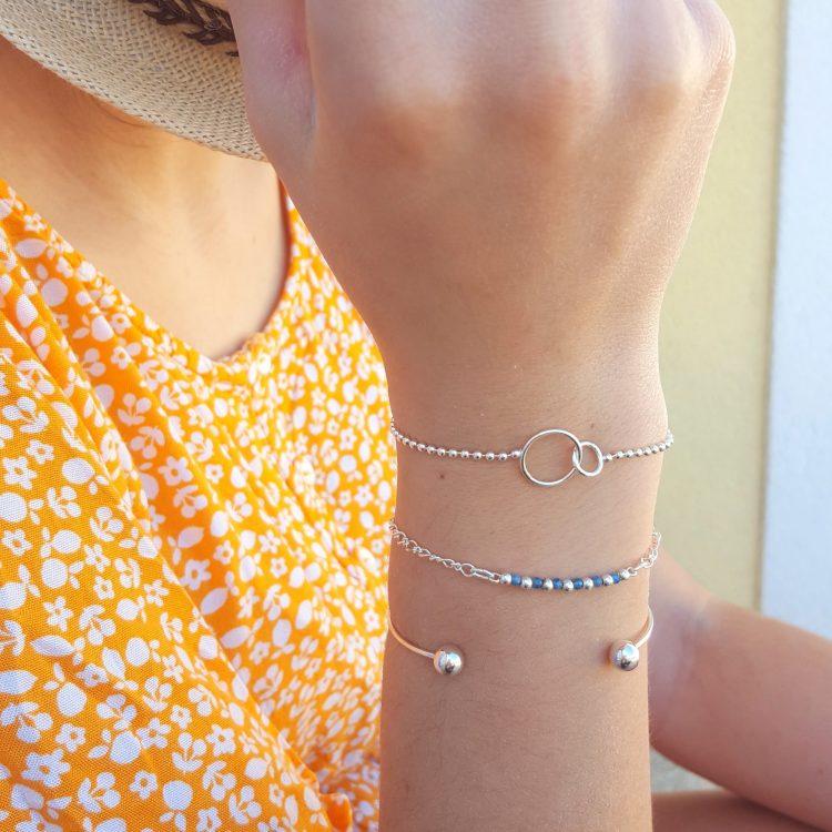 Bracelet chaîne argent femme