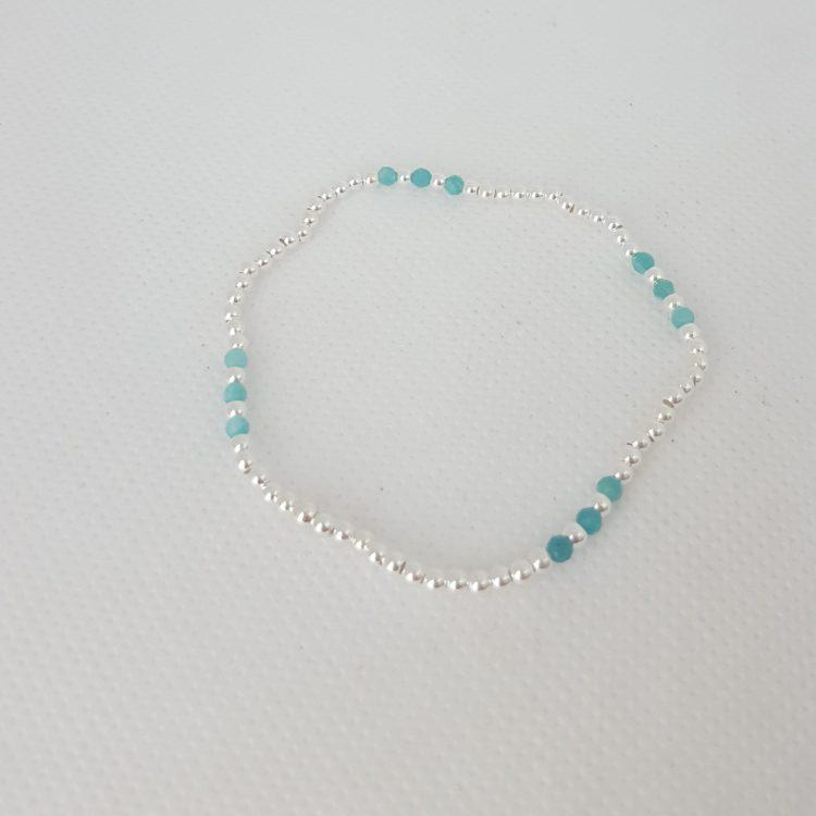 bracelet femme perles argent