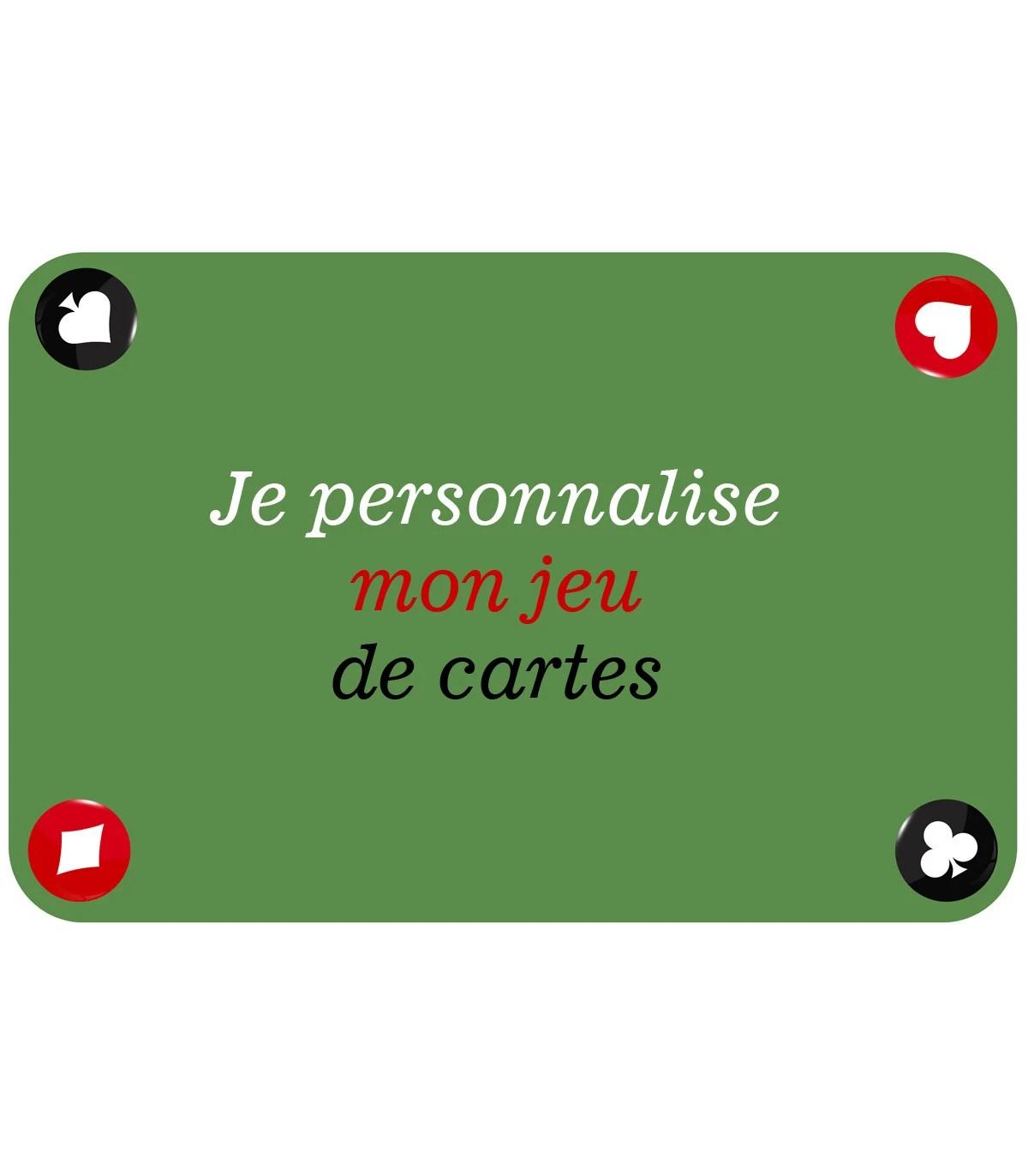 tapis de jeu de cartes personnalise