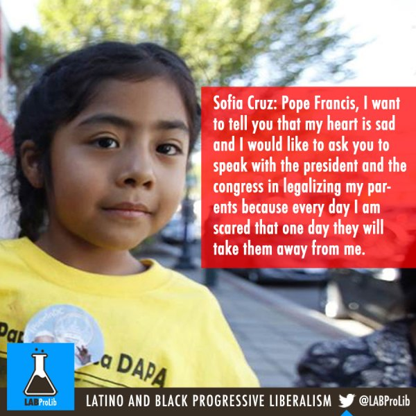 Little Sofia Cruz Meets And Letter Pope Francis