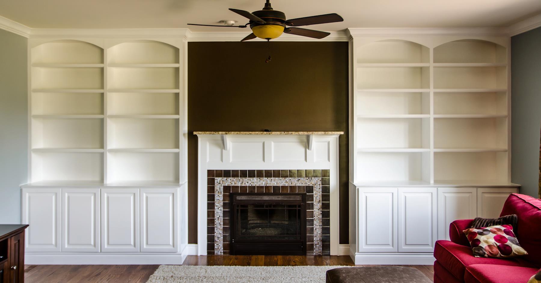 Living Room Custom BuiltIn Bookcase Novi Labra Design Build