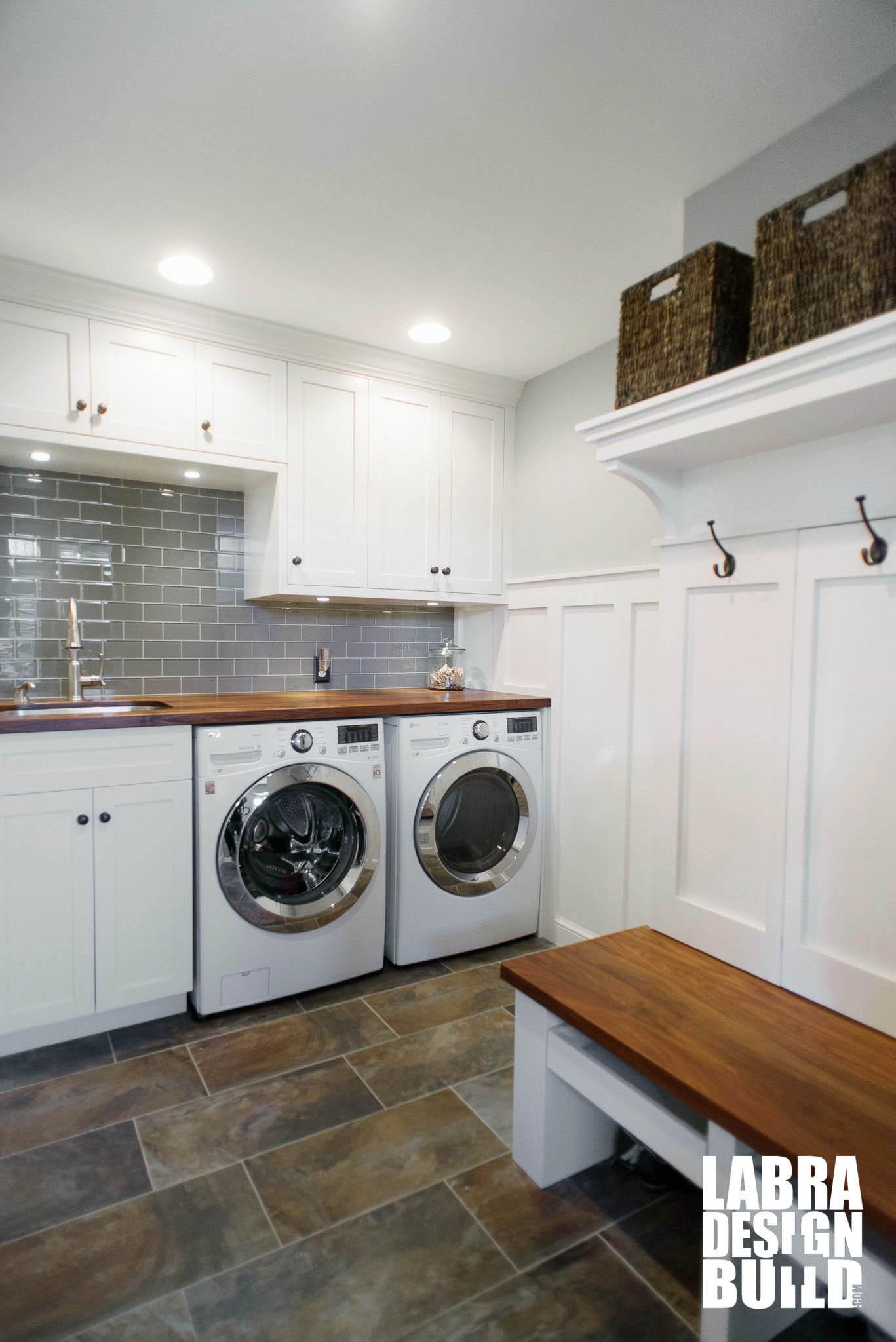 cheap kitchen cabinets michigan floor runner laundry room & mudroom renovation, novi mi labra design build